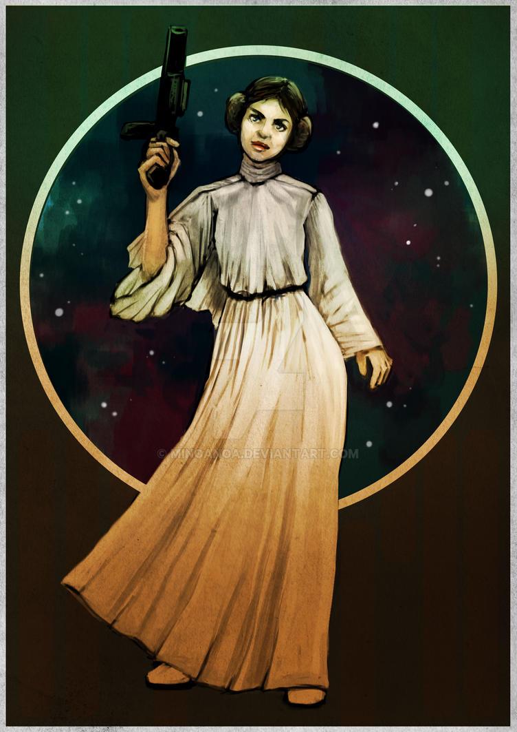 Princess Leia by minoanoa