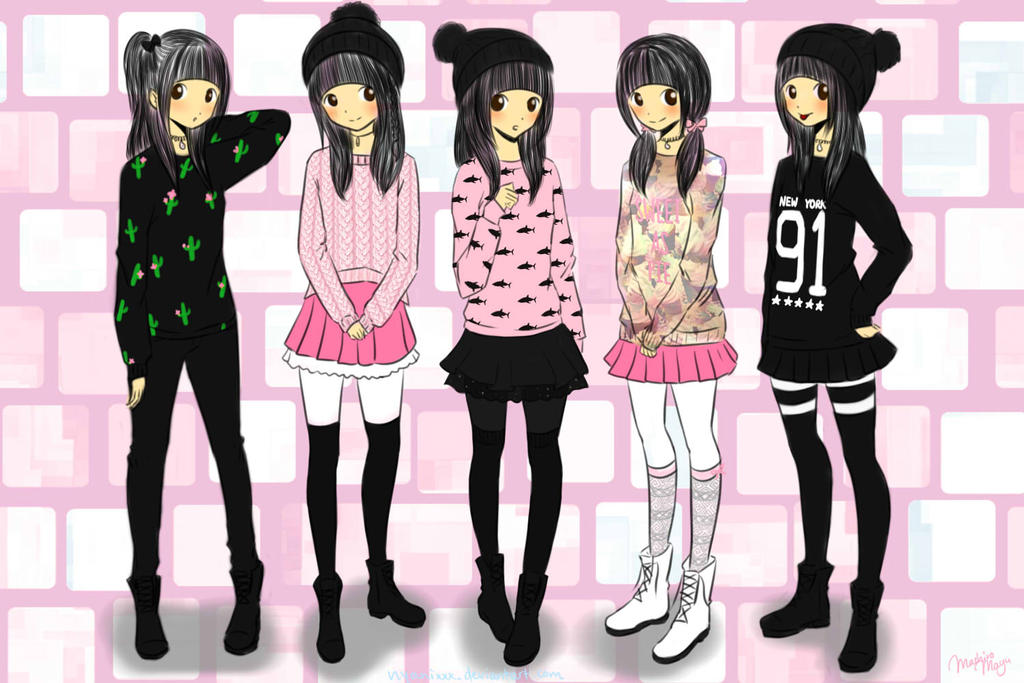 Cool Anime Girl Girl Outfits And Outfit On Pinterest