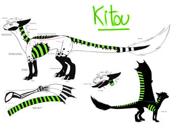 Kitsu ref - dragon form by fordonia