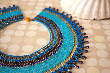 Egyptian collar - closer look