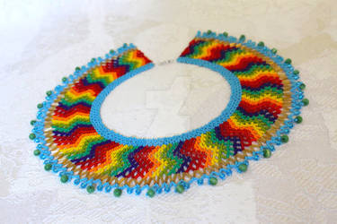 Rhythm of the Rainbow netted collar