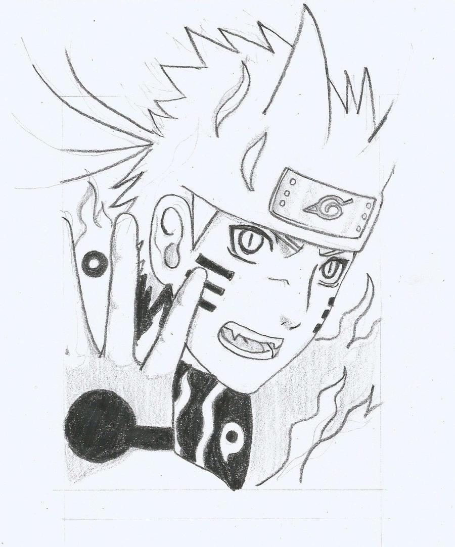 Naruto Bijuu Mode 1 by lukisdev on DeviantArt