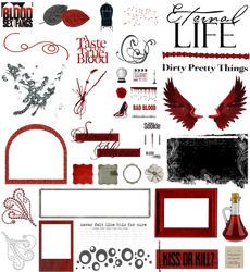 True Blood / Vampire: Word Art and Clear Cut PNG 7 by riogirl9909