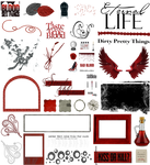 True Blood / Vampire: Word Art and Clear Cut PNG 7
