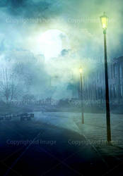 Urban fantasy background #3