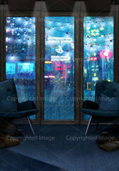 Urban Fantasy Background #8 (city coffee and book)