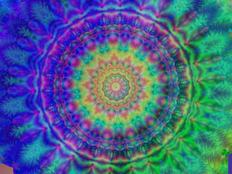 Peacock plume mandala by Sulfura