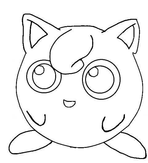 Jigglypuff lineart by sulfura on deviantart for Jigglypuff coloring page