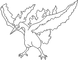 Moltres lineart by Sulfura