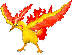 Moltres burning flame by Sulfura