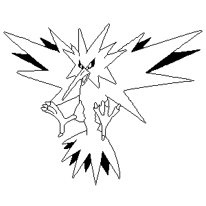 related image of pokemon coloring pages zapdos
