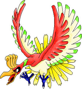 Ho-oh colo by Sulfura