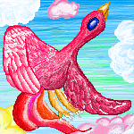 Vogel Rot Sprite by Sulfura
