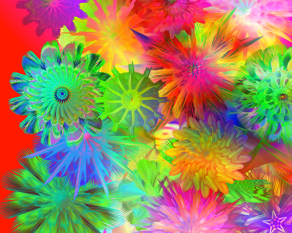 rainbow flowers wallpaper paintings - photo #16