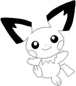 Pichu lines by sulfura on deviantart for Pichu coloring pages