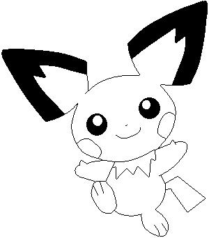 Pokemon Kleurplaten Pichu