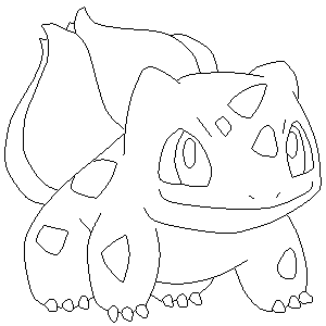 bulbasaur coloring page - bulbasaur lineart by sulfura on deviantart