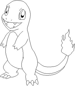 Charmander Coloring Pages Sketch Coloring Page