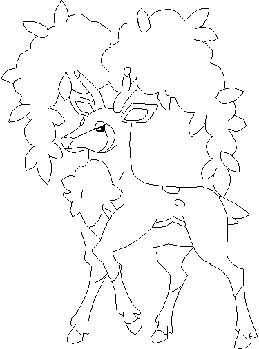 pokemon sawsbuck winter coloring pages - photo#19