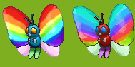 Rainbow Butterfree by Sulfura