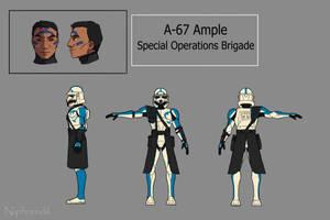 Alpha-67 Ample character sheet by El-Niphrendil