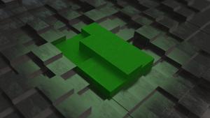 Manjaro Cube Wallpaper Perspective