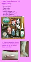 Latex free wound tutorial