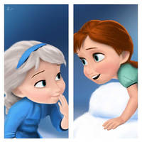 Young-Elsa-Anna by RyomaKuumi