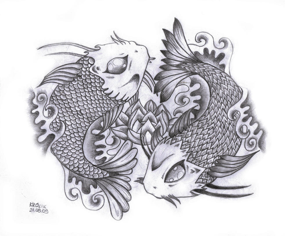 Koi yin yang by kaninchen1991 on deviantart for Koi fish yin yang tattoo