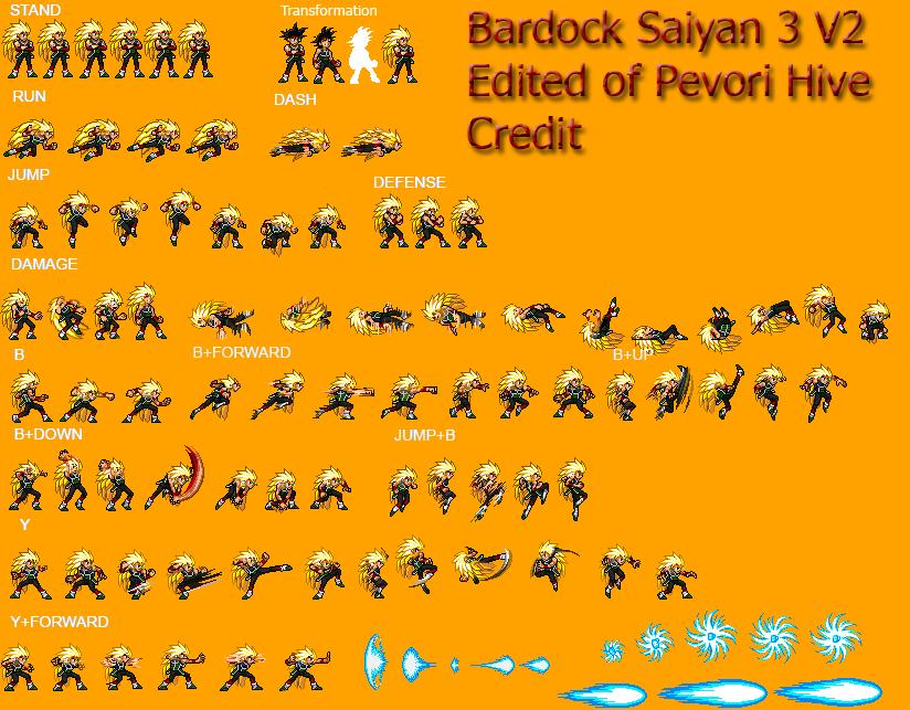 Bardock Ssj 3 Jus Sprite Sheet By Pevori22 On Deviantart