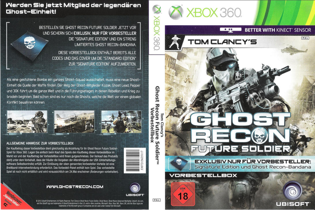 Ghost Recon Future Soldier Cover XBox360 by Bugl4r ...