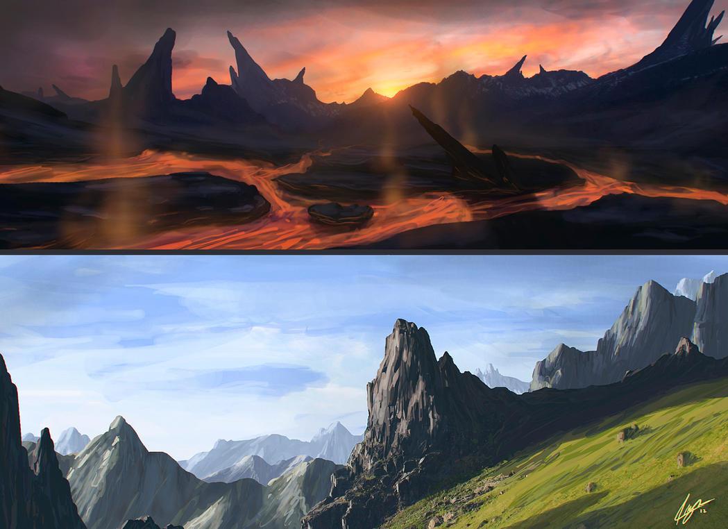 Landscape Study 01 by Kaioshen