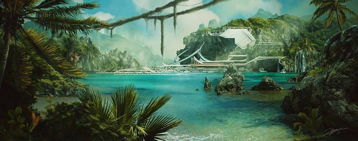 Scifi Jungle by Kaioshen