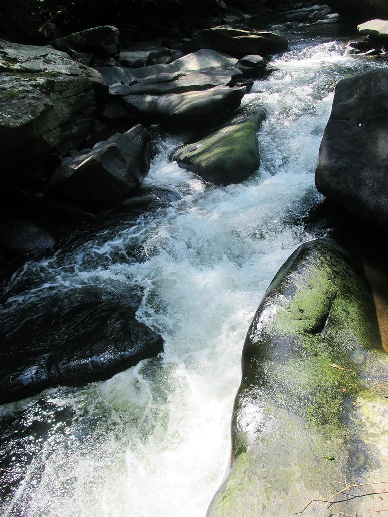 mountain stream by sunbeamfireking