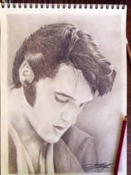 Elvis Presley THE KING, french grey dark Pastel :)