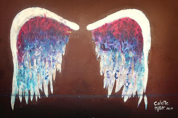 Angel wings los angeles urban wall art by desertchicaz on for Angel wings wall decoration