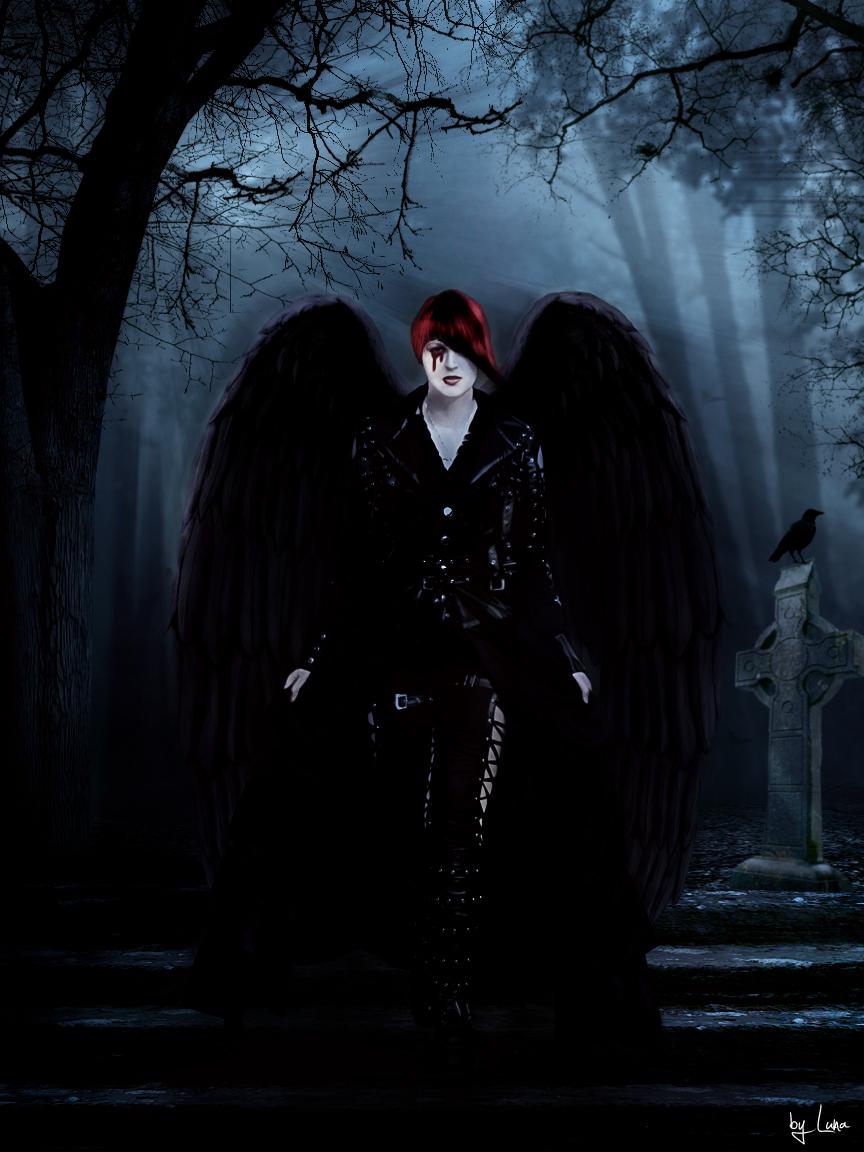 Gothic angel by sailentluna on deviantart - Dark gothic angel wallpaper ...