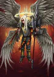Seraphiel - Head Angel and chief  of the Seraphim by LOLzitsaduck
