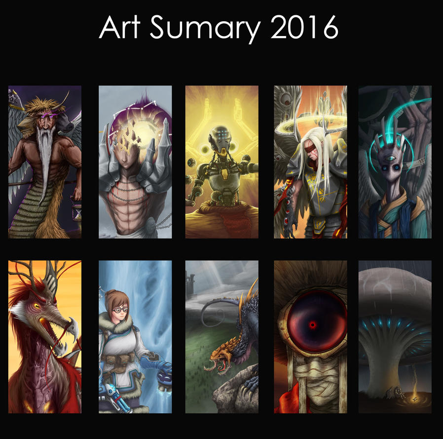 Art Summary 2016 by LOLzitsaduck
