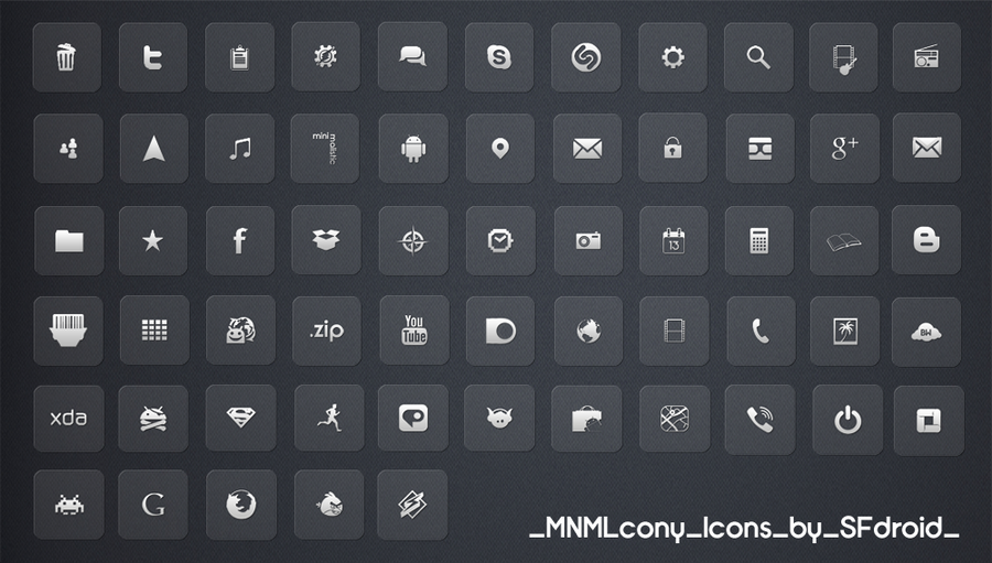 MNMLcony Icons by SF2Gcrew