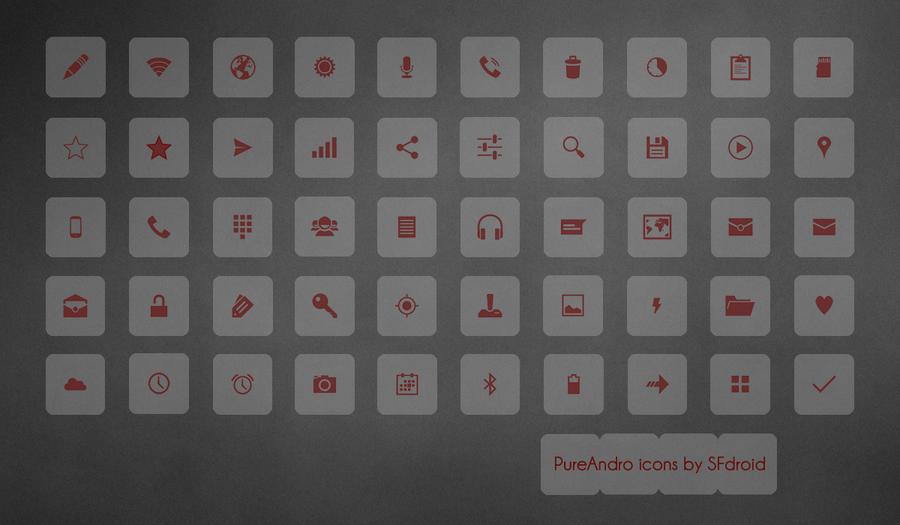 PureAndro Icons by SF2Gcrew