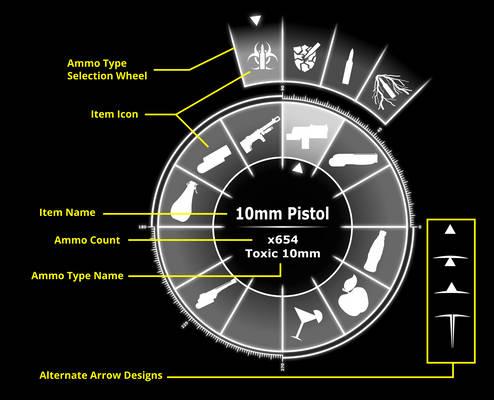 Fallout Equestria Quick Select Menu with Info