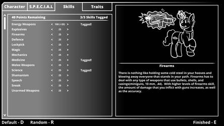 Fallout Equestria Skills Menu