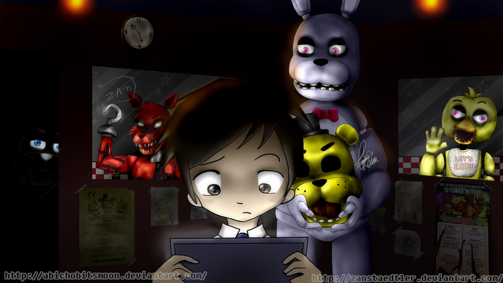 Fnaf fanart let s crown a king collab by abichobitsmoon on