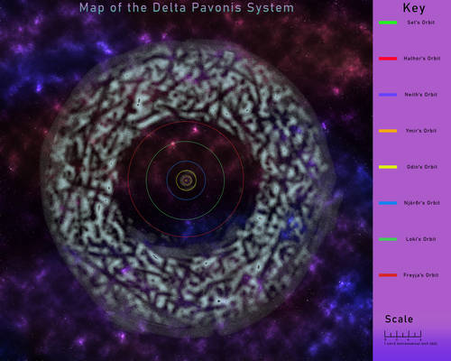 Map of the Delta Pavonis System