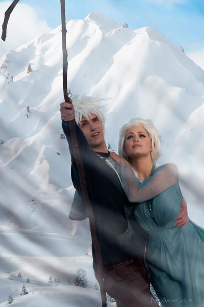 JELSA Couple COSPLAY- Just Don't Look Down Elsa.. by WhiteRaven00