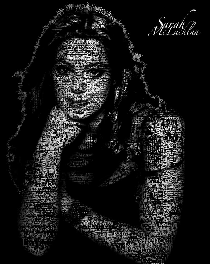 Sarah McLachlan Typo Portrait by Krzyho