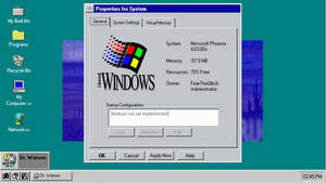 Windows Phoenix Desktop (w/System Properties)