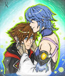 kingdom hearts Sora And Aqua