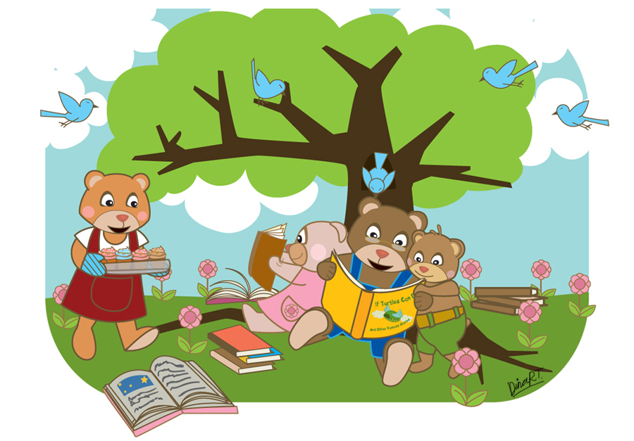 clipart family reading together - photo #7